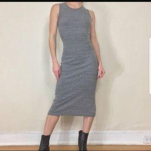 (2 form$20)Brandy Melville Heather Gray Midi Dress